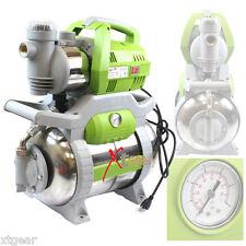1 HP Shallow Jet Booster Water Pump 6.5 Gal Stainless Steel Tank Sprinkler