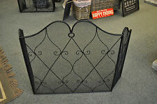 Heart design Front Fire guard / Screen Metal , fire screen , fire guard