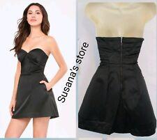 NWT bebe Angela Sweetheart Dress SIZE L Satin, stunning strapless design $171