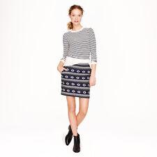 JCREW Size 0 Blue Floral Jacquard Mini Skirt