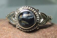 Sterling silver cabochon Pietersite everyday ring UK N/US 6.75