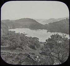 Glass Magic Lantern Slide TAN-Y-BWICH WITH LAKE C1890 PHOTO WALES
