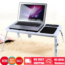 NEW Portable Laptop USB Foldable Table Desk with 2 Cooling Fans Mouse Pad T