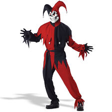 Vile Jester Adult Mens Halloween Costume Fancy Dress up Outfit Medium Black