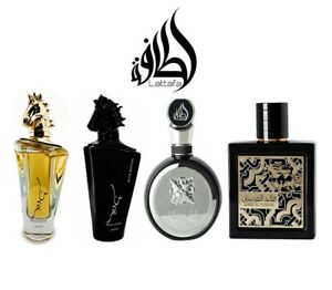 Lattafa Pefumes Maahir Gold Black Qaed al Farsan Fakhar Gold Silver EDP Spray
