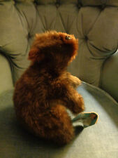 VINTAGE COUNTRY CRITTER PLUSH BEAVER HAND PUPPET W/SQUEAKER MADE IN USA