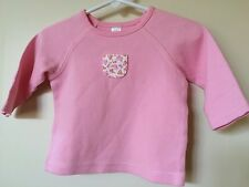 Lands End Girls Size 3 6 Months Sweat Shirt Pink Long sleeve top EEUC valentine