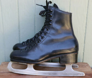 Riedell Red Wing Black Leather Boot Figure Skates 2706 Boys Youth Size 3