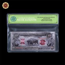 WR 1901 $10 Bison Legal Tender Note .999 Silver Novelty Banknote Collectors Gift