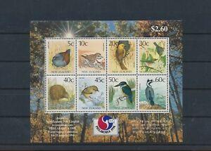 LO65492 New Zealand 1994 animals fauna flora birds good sheet MNH