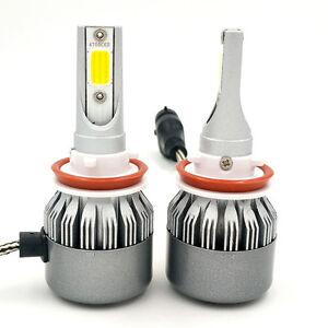 Pair H8 H9 H11 Cree LED Headlight Kit 1400W 210000LM 6000K Low Beam Fog Bulbs