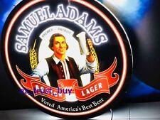 "New Samuel Adams Boston Lager Beer Light Lamp Man Cave LED Neon Sign 20"""