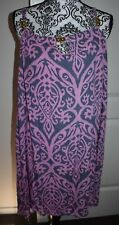 Women's Pink And Grey Multi Gold Chunky Bead Flowy Casual Dress One Size