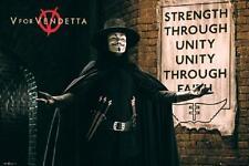 V for Vendetta Movie Poster Strength Through Unity Mask, 24x36