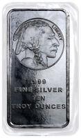 10 Troy oz .999 Silver Bar American Indian - Buffalo Design SKU28953