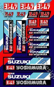 Suzuki GSXR Racing Team Motorrad Aufkleber GSX-R Yoshimura Laminiert