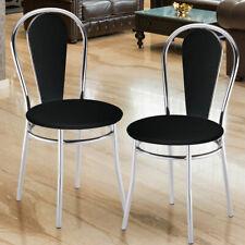 Set of 2 Comfort Seating Restaurant Bistro leatherette chair black living room