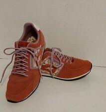 KangaROOS Pink Suede Floral Shoes Magnolia Prints Sneaker Womens Size 9