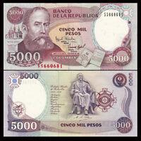 Pesos 5000 5,000 UNC P-452 10-9-2013 452p Colombia