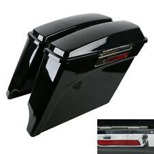 "5"" Vivid Black Stretched Extended Hard Saddlebags Fit For 93-13 Harley Touring"
