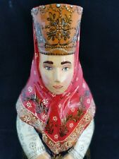 Collectors Item: Russian wooden doll peasant lady, hand painted and signed