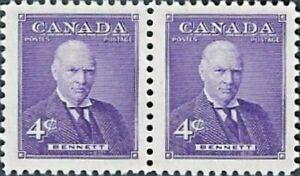 Canada  #  357 Pair     RICHARD BENNETT     Brand New 1955 Pristine Original Gum