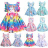Kids Girls Unicorn Dress Princess Party Pageant Summer Casual Sundress Clothes