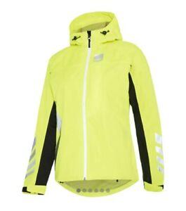 Hump Signal Womens Waterproof Cycling Jacket RRP £69.99 UK Size 10 Safety Yellow