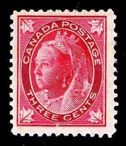 CANADA #69  .03c  DEFINITIVE ISSUE OF 1897 - MOG-HR - F/VF - $65.00  (ESP#7802)
