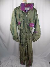 Spyder Ski Suit Snow Suit Women's Size 10 Green iridescent Thinsulate