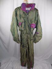 Vintage Women's Spyder Ski Suit Snow Suit Size 12 Green iridescent Thinsulate
