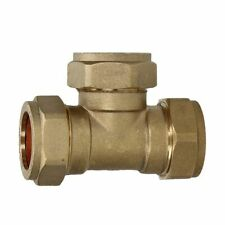 T-PIECE COMPRESSION FITTING CONNECTOR 35mm TEE GAS COPPER PIPE TUBE COUPLING