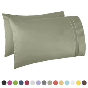 SET OF KING SIZE PILLOWCASES SOFT AS 1500 THREAD COUNT TWO PILLOWS CASES PER SET