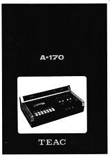 Service Manual-Anleitung für Teac A-170