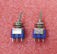 10XMTS-103 Latch Mini Toggle Switch 125VAC 6A ON-OFF-ON 3 Positions SPDT hym