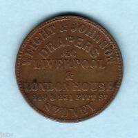 Australia Token.  Weight & Johnson.. 1/2d -  Sydney NSW..  aVF/F+