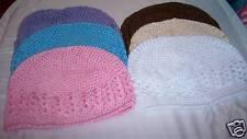 U PICK 1 newborn baby KUFI CROCHET HATS 12 COLOR choice
