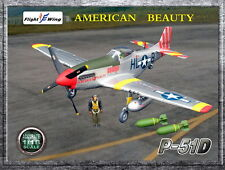 """Flight Wing WWII US P-51D """"American Beauty"""" MUSTANG Fighter Plane 1/18"""