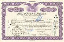 Ohio Power Company > 1971 preferred stock certificate share scripophily