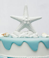 Starfish Beach Ocean White Bisque Wedding Cake Topper