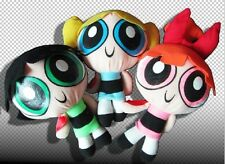 "3pcs/ set Cool 1999 Cartoon Network The Powerpuff Girls Plush Toy Soft 9"" Doll"