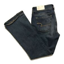 American Eagle Kick Boot Jeans Size 12 Low Rise Super Stretch Distressed NWT