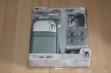 Pack console Nintendo DS et DSi - housse + stylet + boîtiers plastiques jeu GRIS