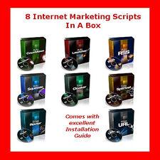8 Internet Marketing Scripte - brandheiß-brandaktuell,+Bonus, inkl. PLR/Reseller