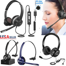MPOW USB Headset 3.5mm Jack Noise Cancelling Bluetooth MIC Headphones Office