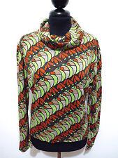 CULT VINTAGE '70 Maglia Donna Optical Tropical Woman Sweater T-Shirt Sz.L - 46