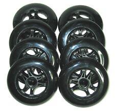 8 rouleaux Powerslide Infinity 110mm 110 mm 85A noir / VITESSE COURSE Rollers en