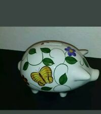 Piggy Bank Kids Cash Money Savng Safe Great Gift White