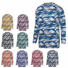 Men'S Moisture Wicking, Mod Military Camo, Crew Neck T-Shirt, Long Sleeve, S-3Xl