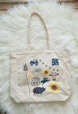 Kickee Pants Tulsa Oklahoma Sample Sale Canvas Bag Tote Cow Wheat Sunflower Pig